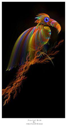 Beautiful Fractal art: bird