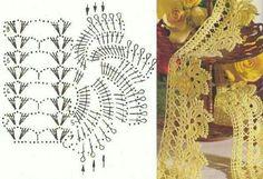 CROCHÊ ...Arte com fios: BARRADOS E BIQUINHOS DE CROCHE