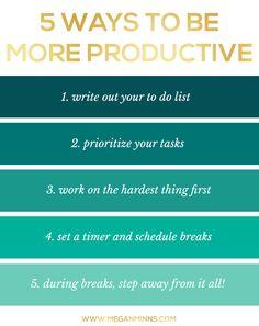 5 Ways to Be More Productive.  | Productivity @ Levo