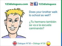 Dialogue 30 - Inglés Spanish - Means of transport - Medios de transporte
