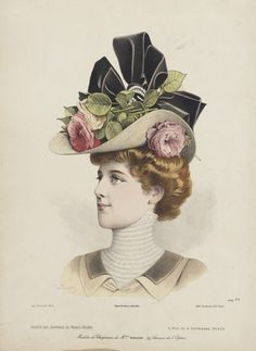 Probably late 1890s, France Millinery Print | LACMA Collections