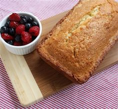 Dorie Greenspan's Perfection Pound Cake with berries
