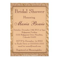 Fancy Rose Gold Filigree Bridal Shower Invitation This site is will advise you where to buyShopping          Fancy Rose Gold Filigree Bridal Shower Invitation today easy to Shops & Purchase Online - transferred directly secure and trusted checkout...