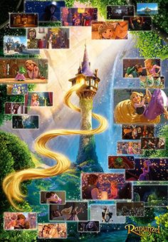 Amazon.com: Tenyo (Dg2000-616 Disney Tangled Rapunzel Scene Collection Jigsaw Puzzle (2000 Pieces): Toys & Games