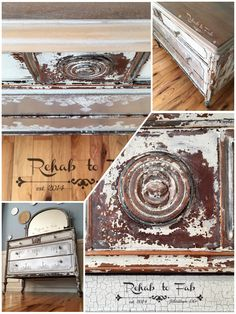 Farmhouse Glam done by Rehab to Fab on Old Fashioned Milk Paint Company & Iron Orchid Design stamp. Milk Paint Furniture, Painting Furniture, New Furniture, Paint Stain, Chalk Paint, Stained Dresser, Iron Orchid Designs, Paint Companies, Prima Marketing
