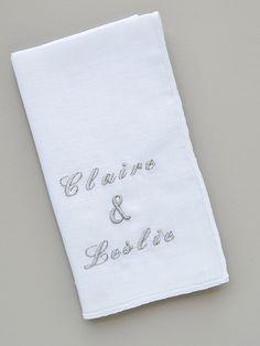 O'Harrow Clothiers Custom Embroidered Linen Pocket Square