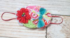 Garden Brights - headband in red, bubble gum pink, lime green, teal, aqua, and baby blue by SoTweetDesigns