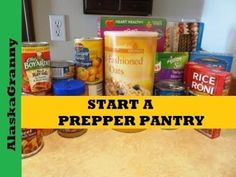 Emergency Prepping Pantry Ideas For Outlasting When SHTF! The Options For Painless Arranging A Pantry Secrets - Prep Help Prepper Food, Survival Food, Survival Videos, Survival Quotes, Preppers List, Emergency Food Storage, Long Term Food Storage, Pantry Organization, Meal Planning