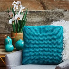 Knitted Pillow Covers - Lia Griffith