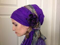Purple Pashmina and purple leopard wrap (wrapunzel)