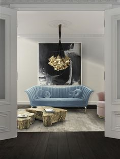 Top 20 Luxurious Modern Sofas You Will Want To Have Next Season   Velvet Sofa. Green Sofa. Living Room Inspiration. #modernsofas #velvetsofa #homedecor Read more: https://www.brabbu.com/en/inspiration-and-ideas/interior-design/luxurious-modern-sofas-want-season