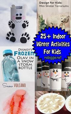 25+ Indoor Winter Activities for Kids. Kids Will Love Putting Olaf In A Snow Storm!