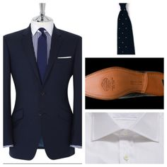 British Options:  Tie - Drakes of London - Drakes-london.comShoes - Churchs - church-footwear.comShirt & Suit - TM Lewin - tmlewin.co.uk