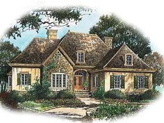 Eplans French Country House Plan - Country Cottage - 2598 Square Feet and 3 Bedrooms from Eplans - House Plan Code French Country House Plans, European House Plans, French Country Cottage, French Country Style, French Country Decorating, Country Charm, Country Cottages, Wine Country, European Plan