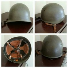 04817185927 Used (normal wear) - Green heavy Germany helmet 1930 35 good condition!