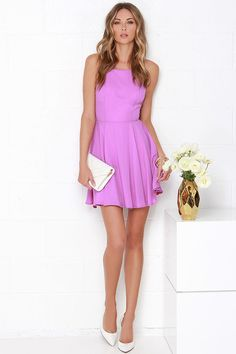 Strappy Together Orchid Purple Dress at Lulus.com!