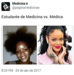 """11.5 mil curtidas, 301 comentários - Medicina é (@paginamedicinae) no Instagram: """"A rainha Rihanna representando bem nossas Médicas. Mas não se enganem, nem tudo são rosas."""""""