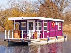 The Boathouse: a new definition to lakefront living! Shanty Boat, Houseboat Living, Lakefront Property, Pontoon Boat, Pontoon Houseboat, Houseboat Ideas, Boat Dock, Floating House, Tiny House Movement