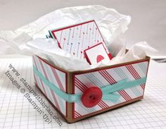 """Gift box for 3"""" x 3"""" cards"""