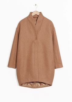 & Other Stories image 1 of Wool-Blend Coat in Mole