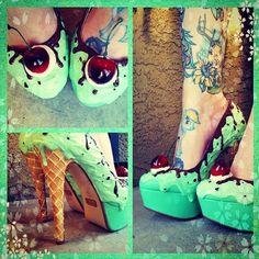 Doces de sapatos