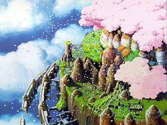 The floating kingdom of Laputa, gorgeous!!