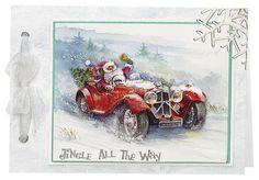 Craft Creations die cut decoupage - DCD602 Santa's on the Way