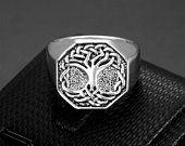 Etsy - Shopping basket 316l Stainless Steel, Stainless Steel Necklace, Stainless Steel Plate, Tree Of Life Ring, Heavy Metal Rock, Biker Rings, Mens Pinky Ring, King Ring, Punk Fashion