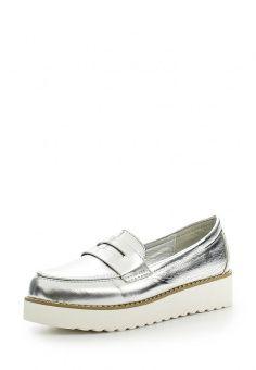 3200 Лоферы Ideal, цвет: серебряный. Артикул: ID005AWHML62. Женская обувь / Туфли