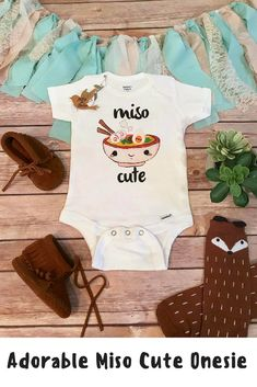 f29044bc62f8e Etsy Miso Cute Onesie, Baby Shower Gift, Unisex Baby Clothes, Baby Boy  Clothes, Funny Onesies, Sushi One - ShopStyle Bodysuits