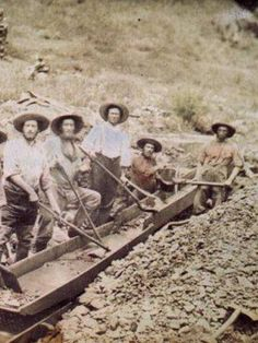 At the end of the California Gold Rush, more than 300,000 people had moved into the area to try to strike it rich.