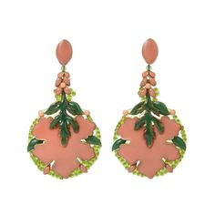 Laura Coral earrings by Dublos