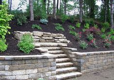 Portfolio of retaining walls, accent walls, steps and staircases