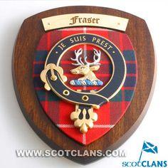 Fraser Clan Crest Plaque: