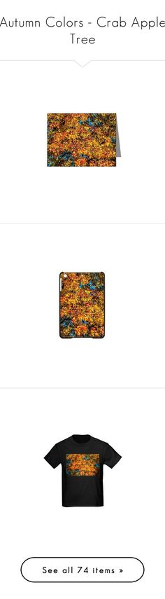 """""""Autumn Colors - Crab Apple Tree"""" by polyart-466 ❤ liked on Polyvore featuring home, home decor, stationery, accessories, tech accessories, fall home decor, autumn home decor, wall art, people tree and autumn tree wall art"""