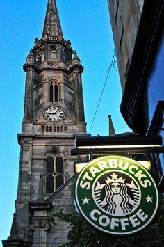 Starbucks Coffee by Tron Kirk in Old Town Edinburgh Scotland by mbell1975, via Flickr