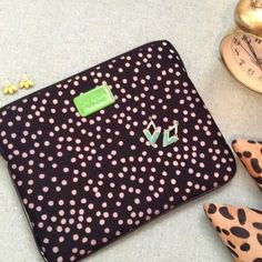 Kate Spade New York IPad Sleeve For the regular iPad. 10.25x8.25. Excellent condition, only defect is the zipper pull is missing it's stitch (shown in picture), however I bought it like that and it has not fallen off or given me any trouble. kate spade Bags