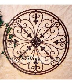 rod iron decorations for the wall | Wrought iron wall art for Tuscan kitchen