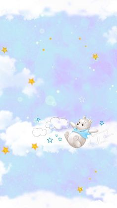Winnie the Pooh Cute Wallpapers Quotes, Cute Cartoon Wallpapers, Cute Wallpaper Backgrounds, Cute Winnie The Pooh, Winnie The Pooh Friends, Disney Background, Disney Phone Wallpaper, Baby Shower Background, Hello Kitty Wallpaper