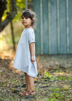 Sukienka Viki szara - M-art-a-baby - Sukienki dla dziewczynek