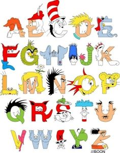 Alphabet made of Dr. Seuss characters... by margarita