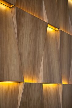 Today you are going to meet Etta Wall Lamp. Can you guess the person that inspires this amazing design? Wooden Wall Design, Wall Panel Design, Wooden Wall Panels, Wall Decor Design, 3d Wall Panels, Deco Design, Wooden Walls, Ceiling Design, Wall Cladding Panels