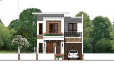 Sketchup Speed Build Home Plan Meter 4 Bedrooms Home Plan Meter description: The House has Cars Parking and garden Ground Level: -Living room -Din Two Storey House Plans, Narrow Lot House Plans, Narrow House, Modern House Plans, Bungalow House Design, Small House Design, Duplex House, Plantas Duplex, Looking For Houses