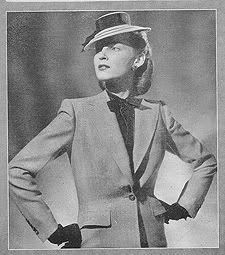 "Phillip Mangone suit, From Life Magazine ""American Designers"" 1944"