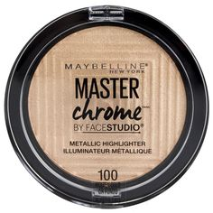 Maybelline Face Studio Master Chrome Palette Molten Gold - Harmon Face Values Maybelline, Women's Accessories, Chrome, Glow, Heaven, Eyeshadow, Let It Be, Makeup, Highlighters