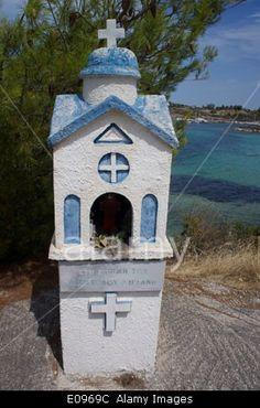 A Greek orthodox shrine, Greece #Greece #orthodox #shrine #travel #greek #religion