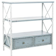 Safavieh Saffron Pale Blue Storage Console Table - Overstock™ Shopping - Great Deals on Safavieh Coffee, Sofa & End Tables