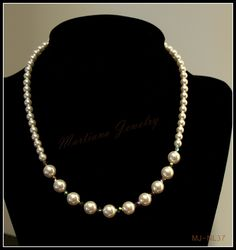 Pearl Elegance - Swarovski Pearl, Crystal and Sterling Silver choker necklace  http://MartianaJewelry.etsy.com