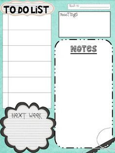 Cute To Do List (And lots of free teacher printables for any teachers out there)