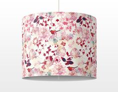 #Hängelampe - Fancy Birds - Lampe - Schirmlampe Rot#retro #Stil #Vintage #Look #70er #flower power #barock #wanddeko #möbel